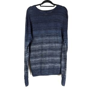 John Varvatos Linen Striped Sweater Pullover